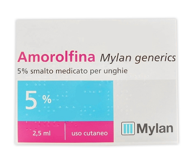 AMOROLFINA MYLAN SMALTO 2,5ML 5%