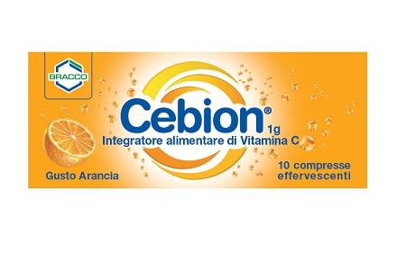 CEBION EFFERVESCENTE GUSTO ARANCIA VITAMINA C 10 COMPRESSE