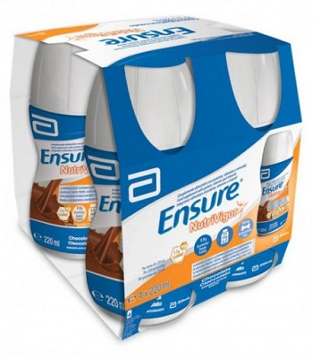 ENSURE NUTRIVIGOR CIOCCOLATO 4 FLACONCINI DA 220ML
