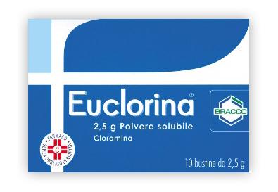 EUCLORINA POLVERE 10 BUSTINE 2,5 GRAMMI