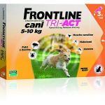 FRONTLINE TRI-ACT ARANCIONE CANE TRA 5 E 10 KG 3 PIPETTE