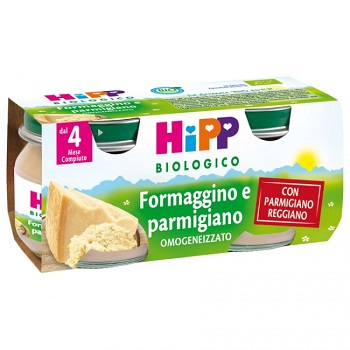 HIPP BIO OMOGENIZZATO FORMAGGINO-PARMIGIANO 80G 2 PEZZI