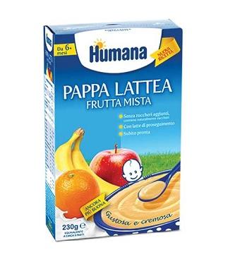 HUMANA PAPPA FRUTTA MISTA 230 GRAMMI