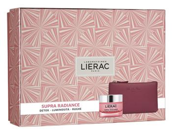 LIERAC Supra Radiance Gel-Crema + Cofanetto + Pochette