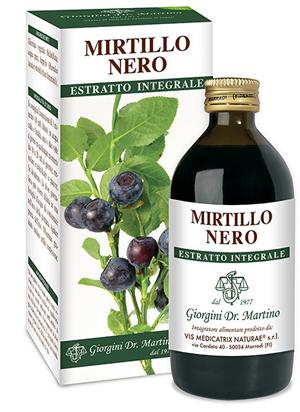 MIRTILLO NERO ESTRATTO INTEGRALE 200ML