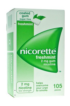 NICORETTE 105 GOMME 2 MG MENTA