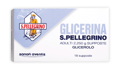 SUPPOSTE GLICERINA S.PELLEGRINO ADULTI 18 PEZZI