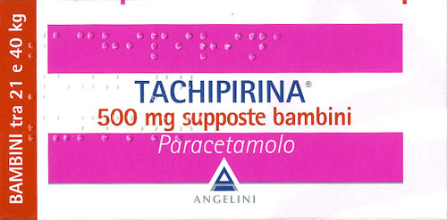 TACHIPIRINA SUPPOSTE 500 MG