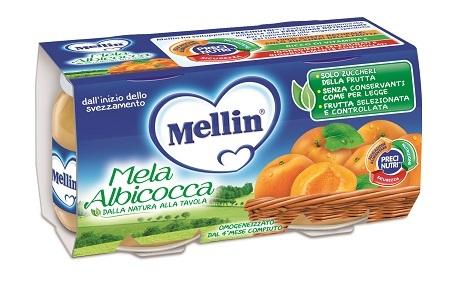 MELLIN OMOGENEIZZATO MELA-ALBICOCCA 2X100 GRAMMI